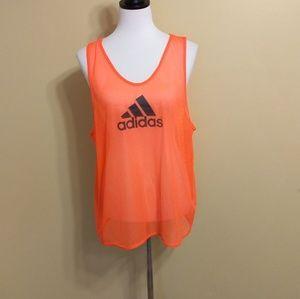 Adidas sheer loose tank top sz large *F